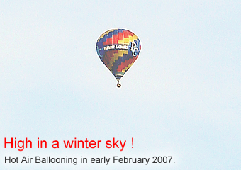 Winter Hot Air Balloon Flight - February 2007.