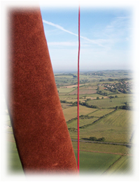 Book a Hot Air Balloon Flight over Warwickshire. (Photo of balloon flight near Thame, Oxfordshire.)